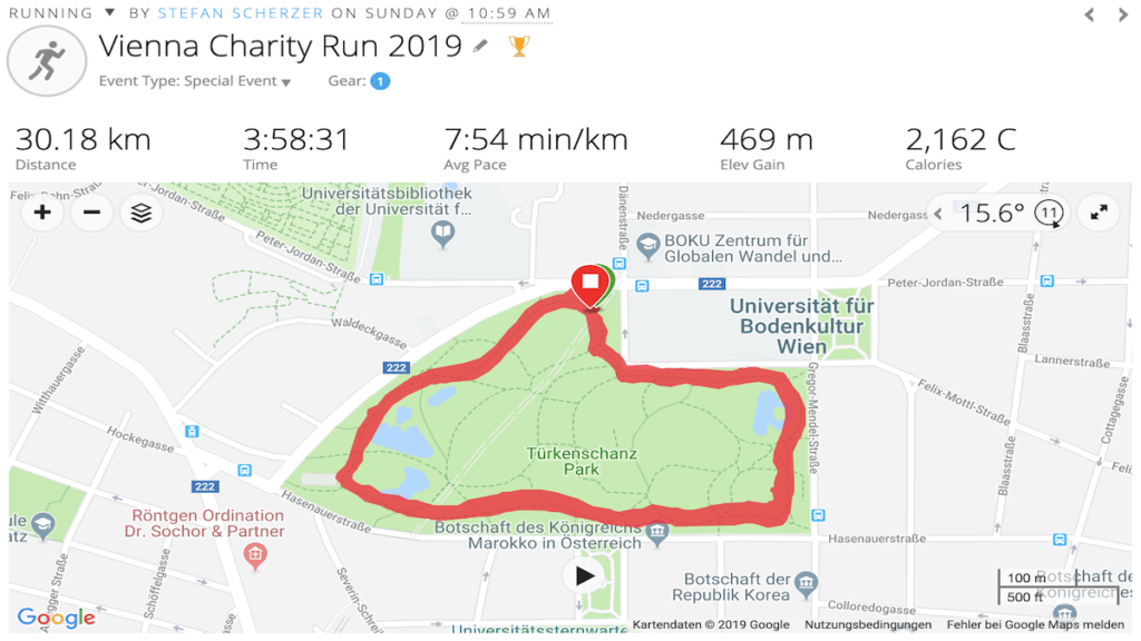 Vienna Charity Run Result