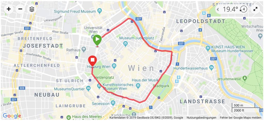 Running track - Vienna Night Run